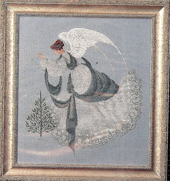lavender and lace cross stitch | Lavender & Lace Cross Stitch Pattern, Ice Angel, 230 by 255 stitch ...