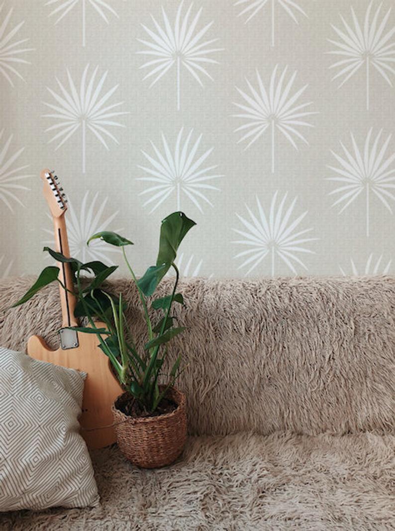 Removable Wallpaper Peel And Stick Wallpaper Leaves Etsy Neutral Wallpaper Nursery Wallpaper Leaf Wallpaper