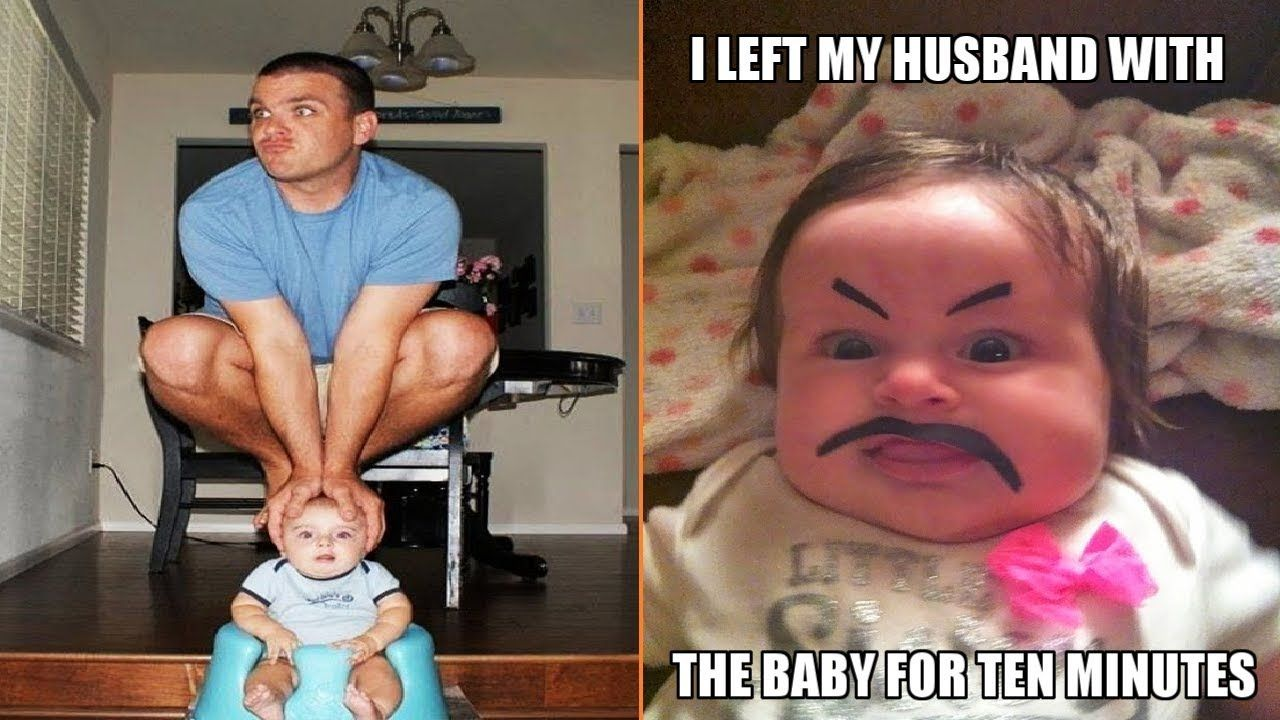 When You Leave Dad Alone With the Baby | Rich kids