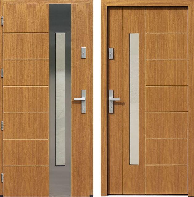 Drzwi wejściowe do domu z katalogu inox wzór 475,7-475,17