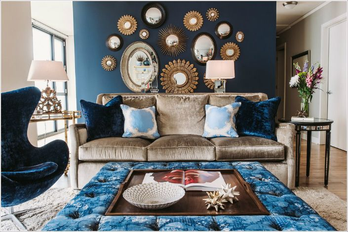 Home Decor Trend The Blue Velvet Living Room Pinterest Living
