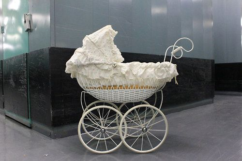 Vintage french wicker baby carriage marlowhitepants old school