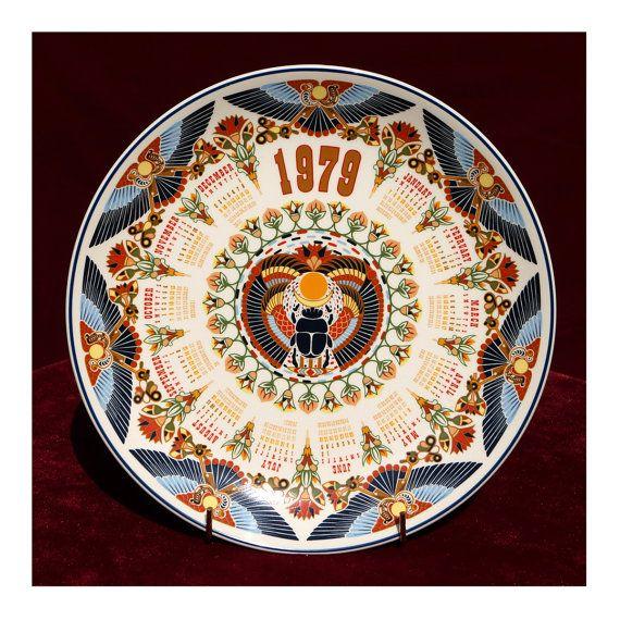 1979 Calendar Porcelain Decorative Plate By Ukamobile On Etsy
