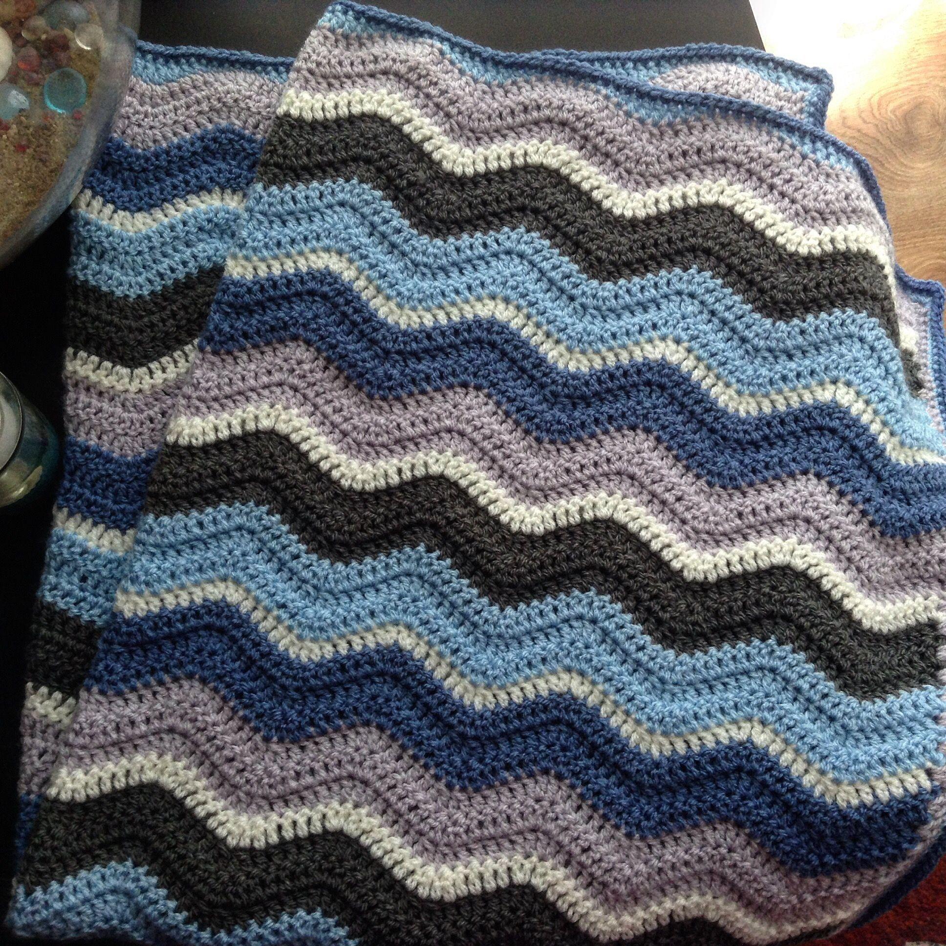 Hand crochet star baby blanket laprobe