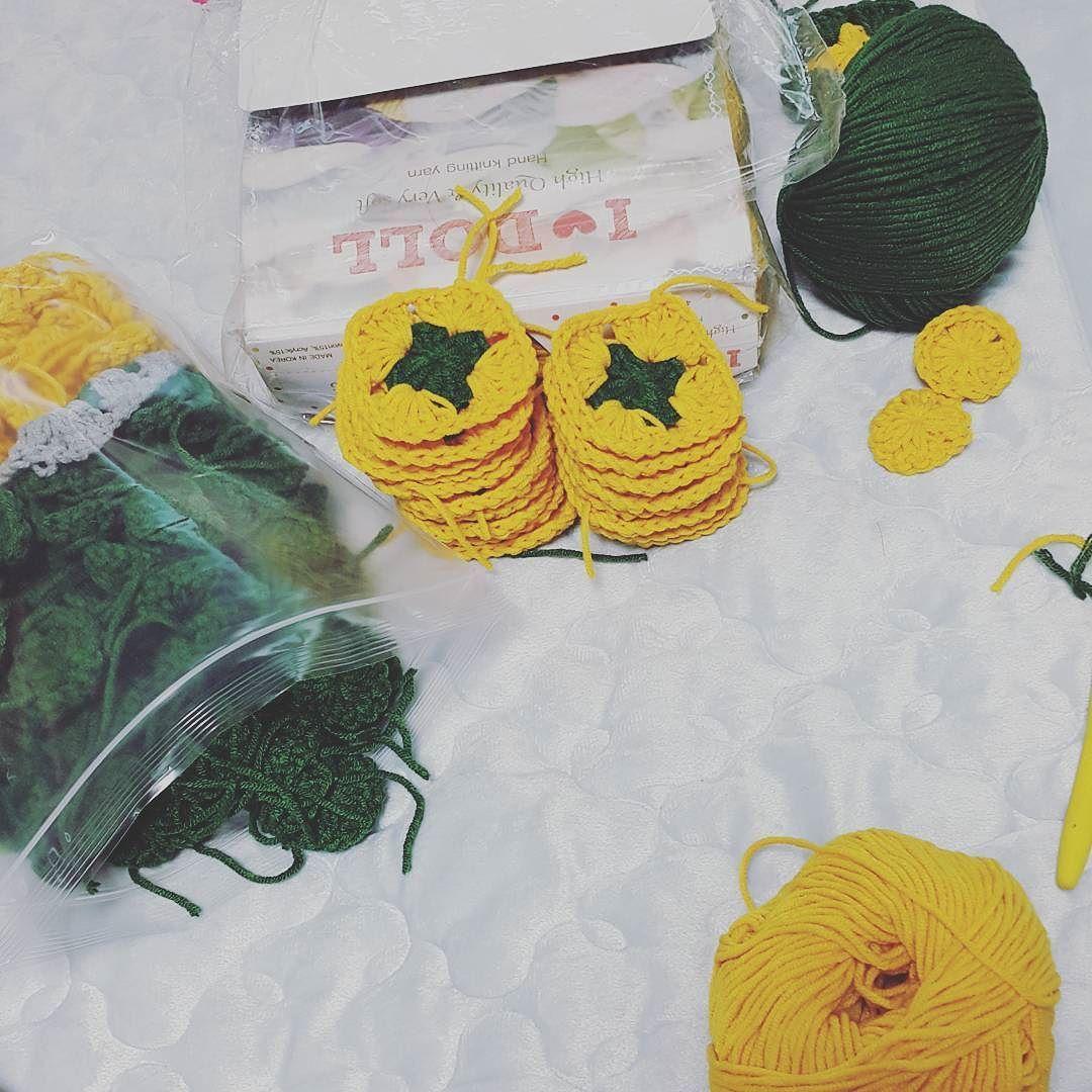 이번엔 꼭 완성을 하자고요.. #아이돌실#코바늘뜨개#코바늘블랭킷#뜨개#집과뜨개질#crochetblanket#crochet by hymehh0126