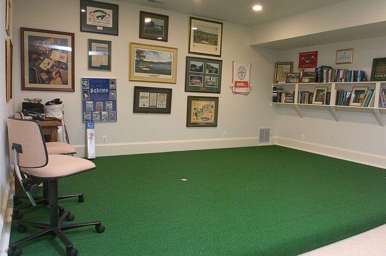 Indoor putting green... | Home ideas | Pinterest | Indoor putting ...