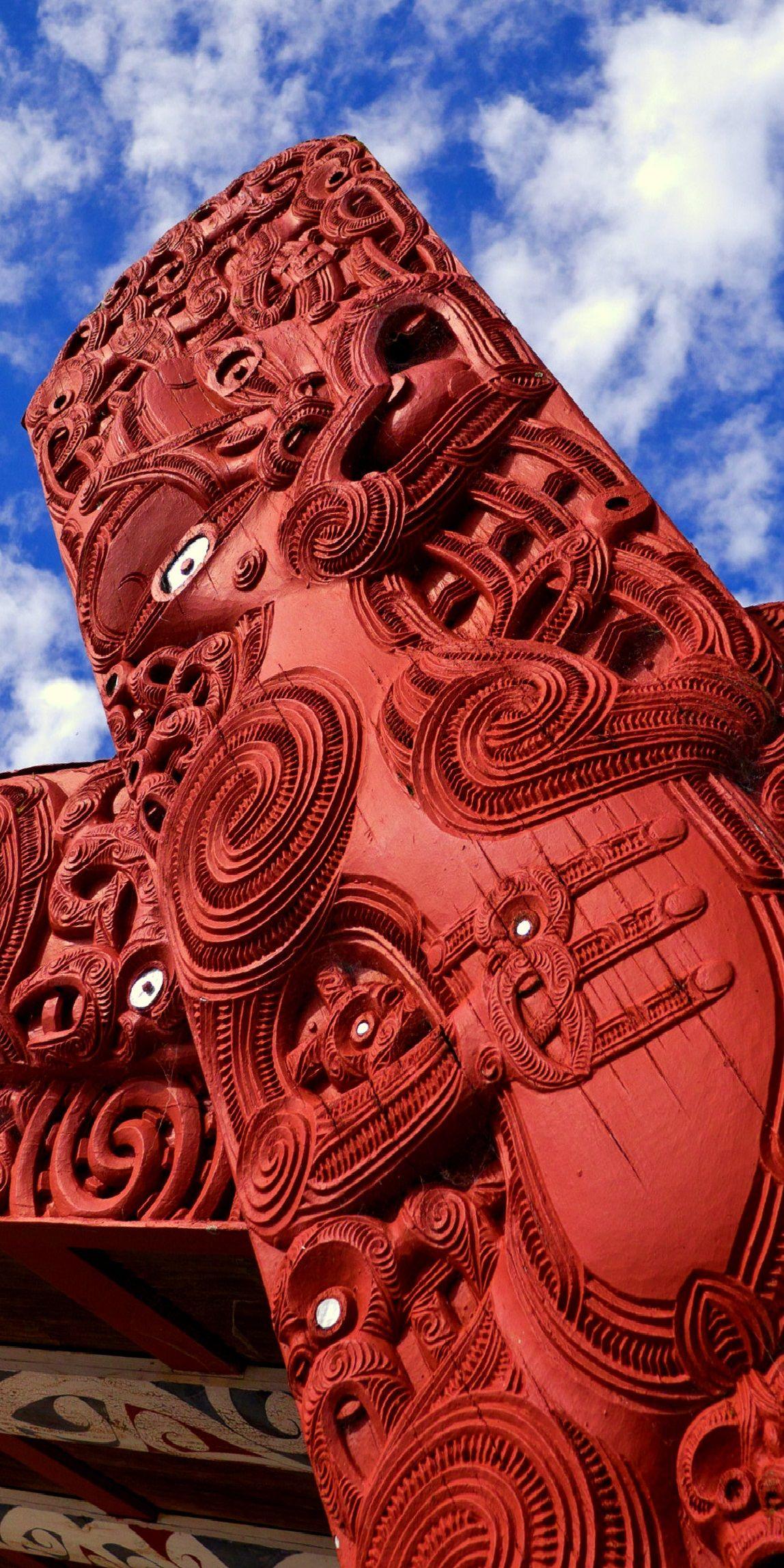 Māori Carving - Rotorura, New Zealand