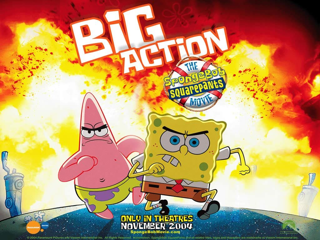 Spongebob Squarepants Wallpaper: Big Action