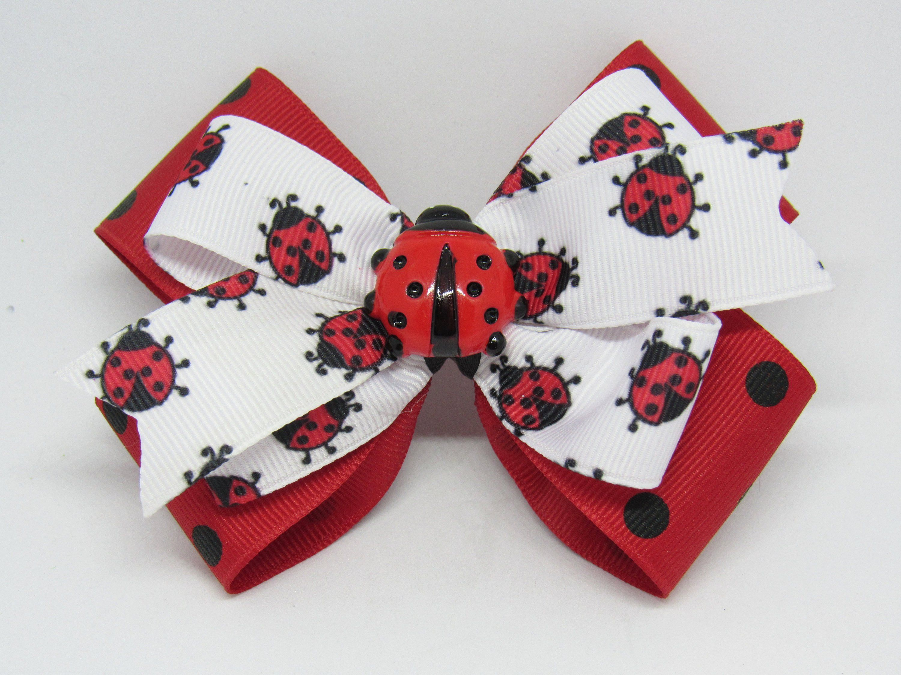 "Girls Hair Bow 3 1//2/"" Red White Blue USA Sparkly Mickey Flatback Alligator Clip"