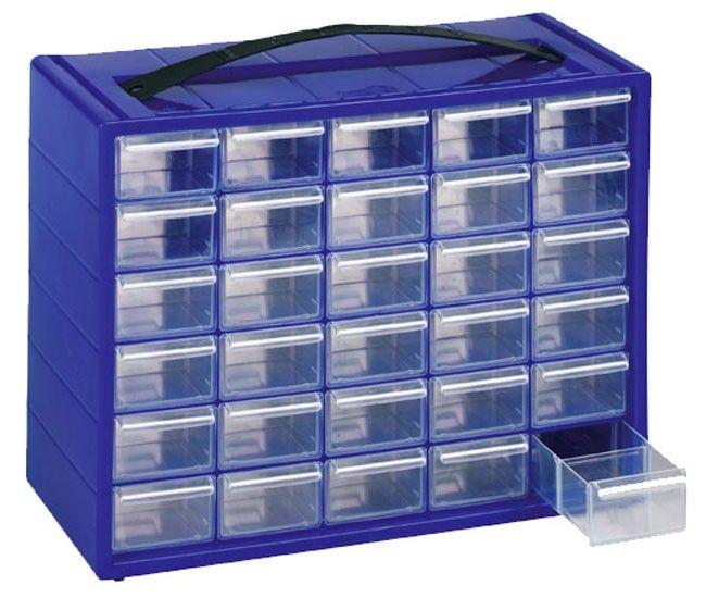 Cassettiera con 30 casetti e 32 divisori per perline o minuteria