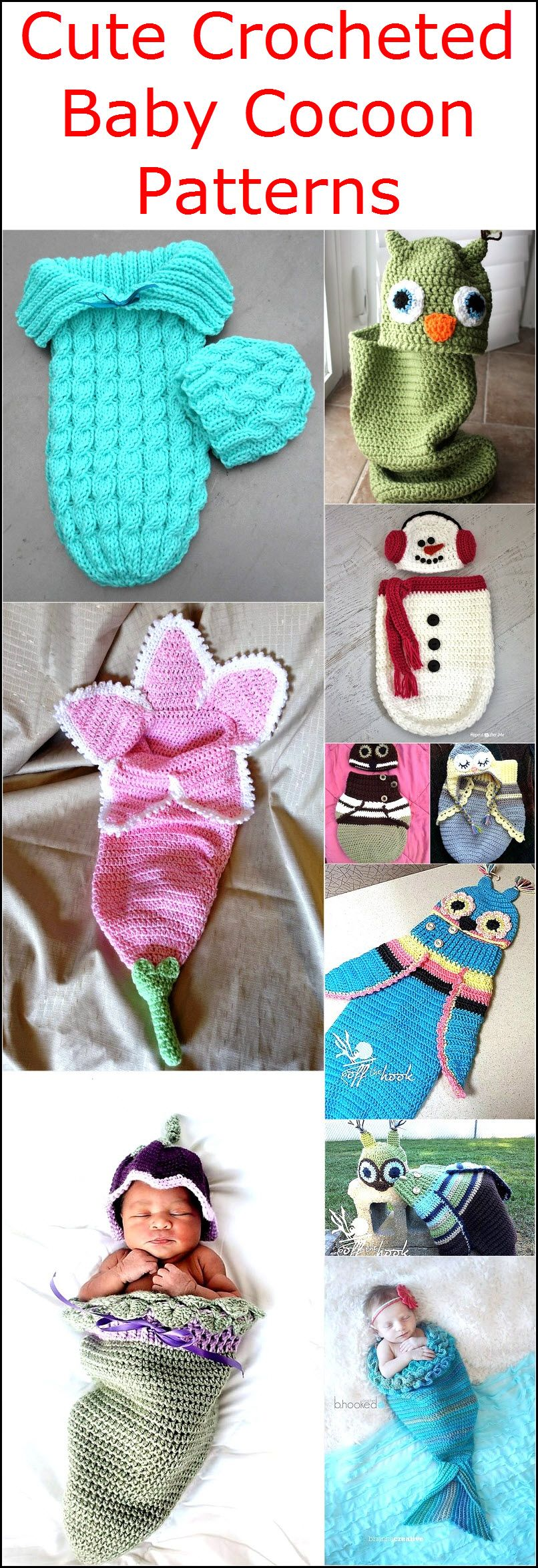 Cute Crocheted Free Baby Cocoon Patterns
