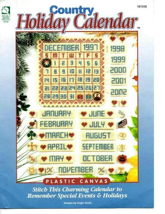 Holiday Calendar Plastic Canvas Stitches Plastic Canvas Books
