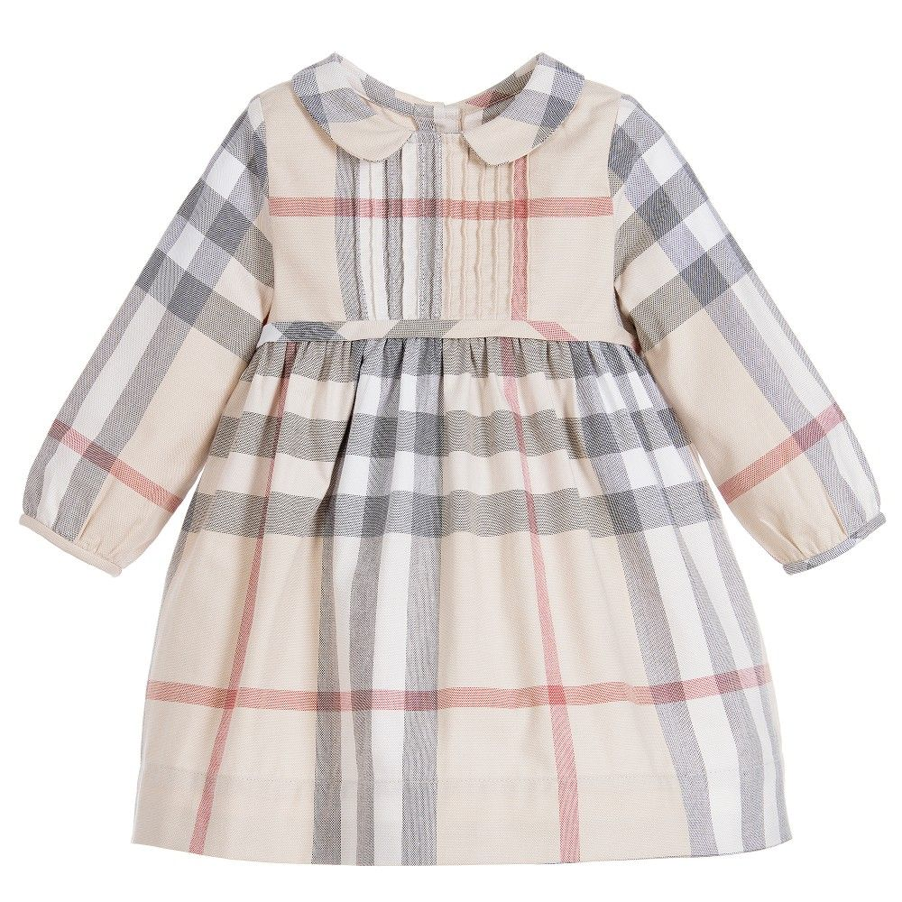 Baby girls cute beige dress and knickers by Burberry Made