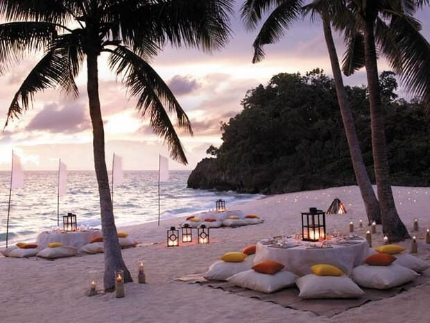 Romantic beach setting (Philippines )