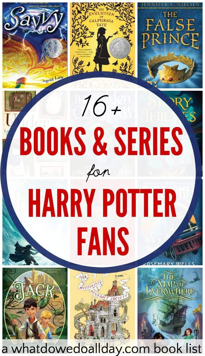 Harry Potter Book List ~ Spellbinding books to read if you like harry potter