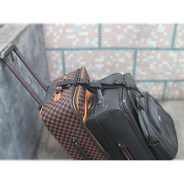 Travelon Add A Bag Strap Travel Luggage Suitcase Adjustable Belt Bag Holder