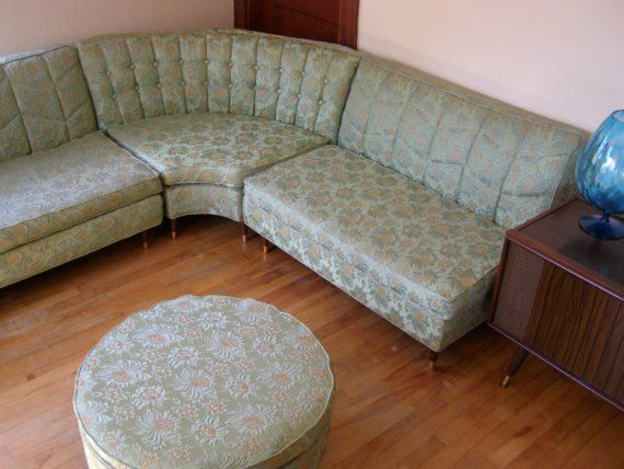 New Years Vintage Sectional Sofa With Built By Redeyevintage