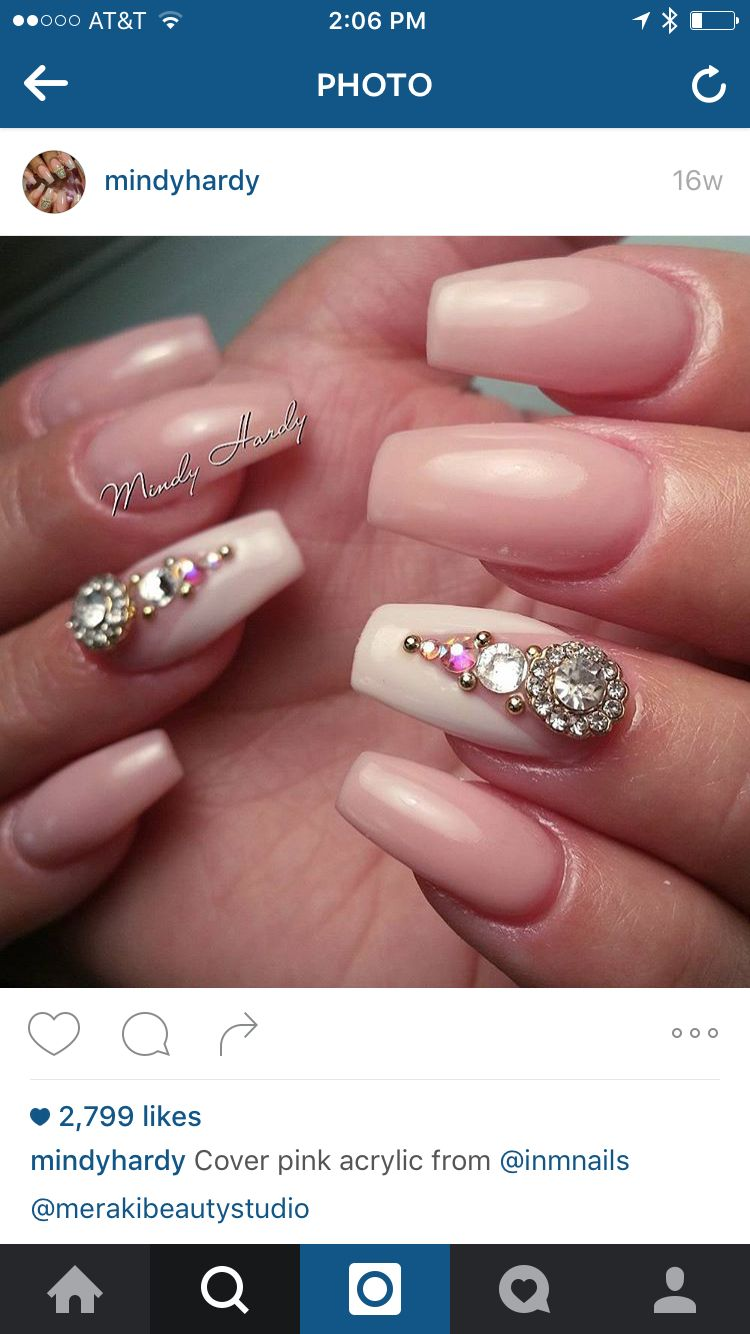 French tip   Nails and things   Pinterest   Coffin nails, Mani pedi ...