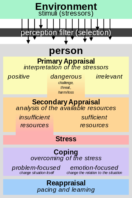 Richard Lazarus Stress Model Appraisal Theory Mind Of