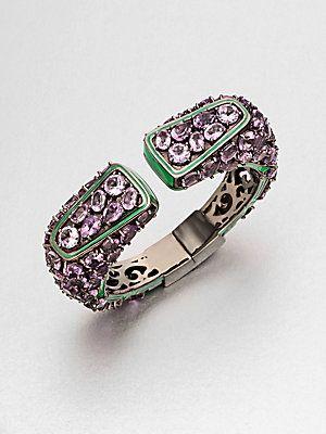 M.C.L by Matthew Campbell Laurenza Enamel Accent Amethyst Cuff Bracelet $1,885
