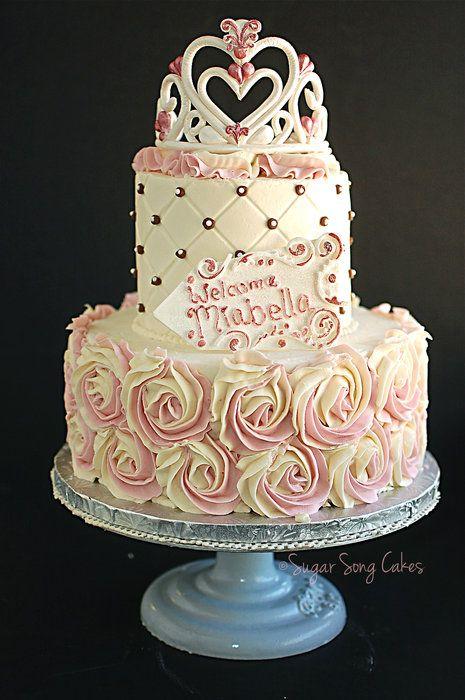 Princess Rosette Cake with Tiara