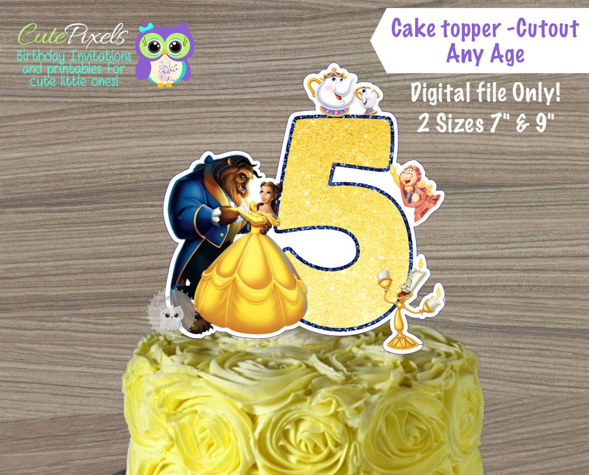 Beauty and Beast Cake topper Princess Belle Cake Topper Belle