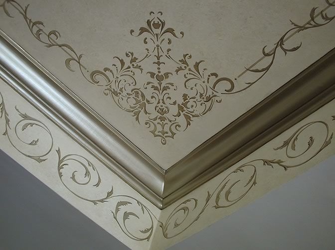 Stenciled ceiling by SpecFin Designs | Stenciled & Painted ...