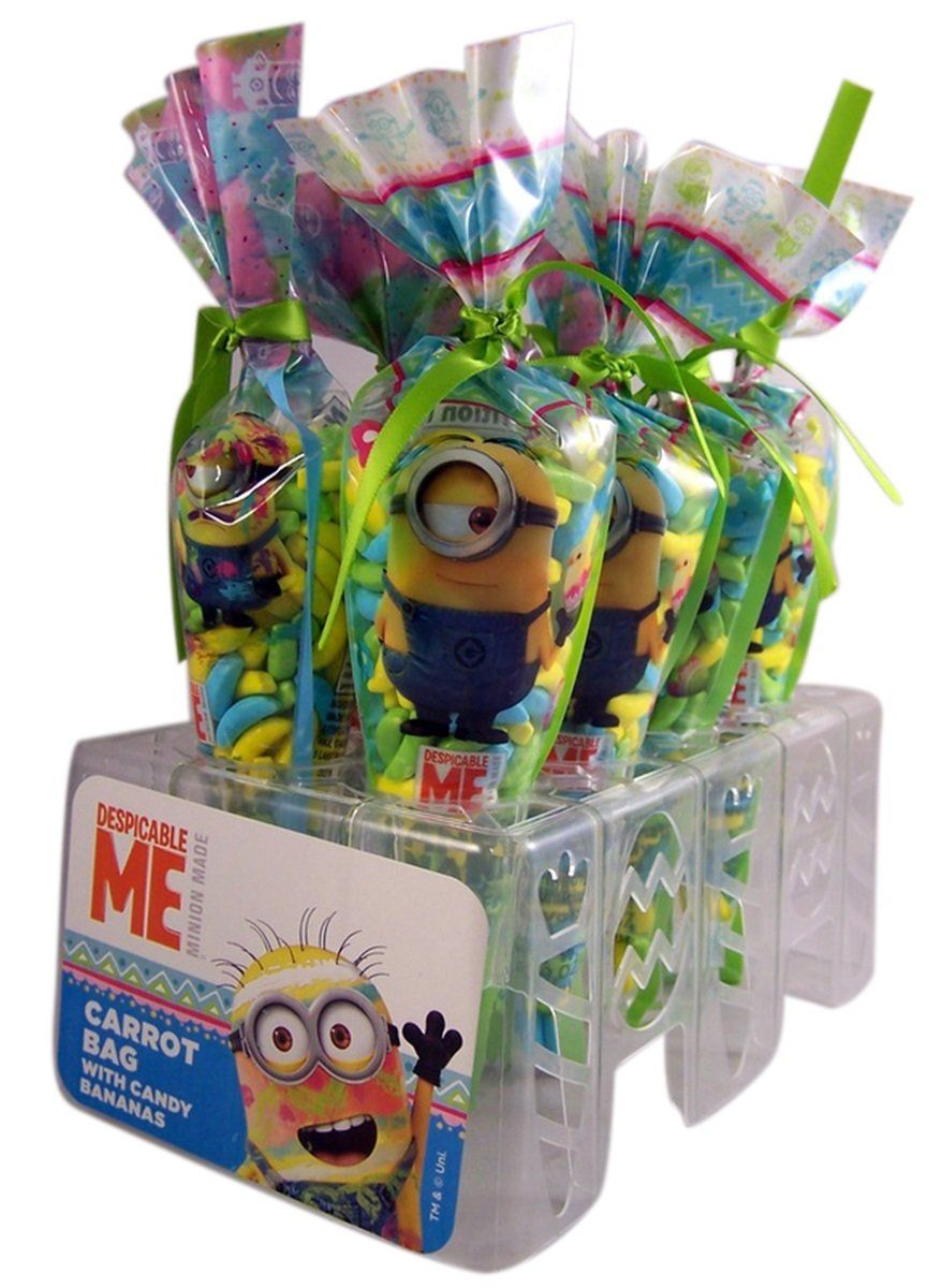Despicable me minions easter carrot candy bags pack of 8