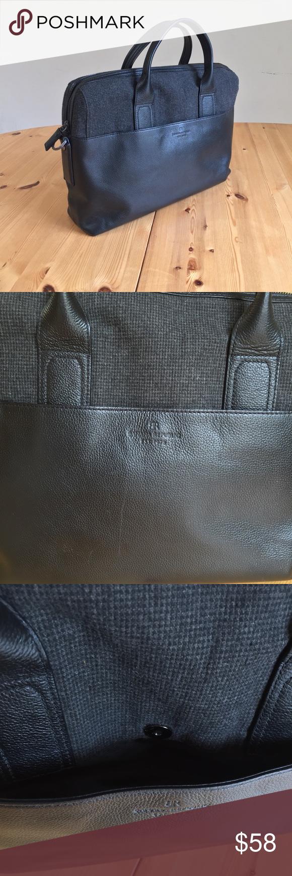 Banana Republic Black Leather Briefcase 👜 Banana Republic briefcase bag  from FW2014 mens collection. Black 15fc1f81ea