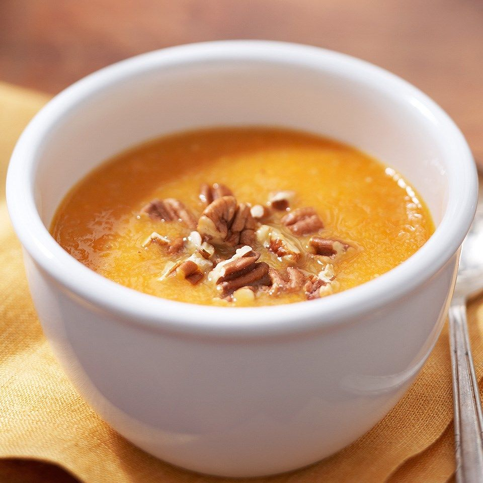 Meal Ideas With Chicken Noodle Soup: Sweet Potato Soup With Toasted Pecans