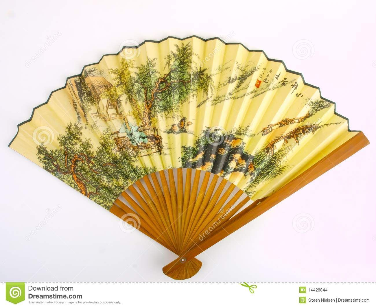 Traditional Chinese Fans | Traditional Chinese fan. Close up on ...