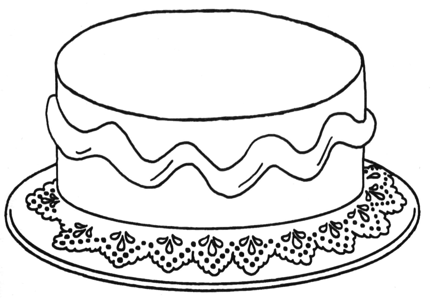 kleurplaat taart peuters zoeken verjaardag oma