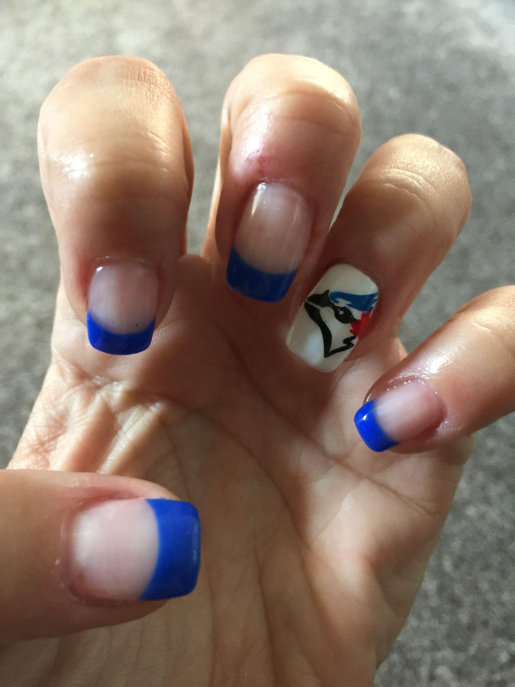 Blue Jays Nails