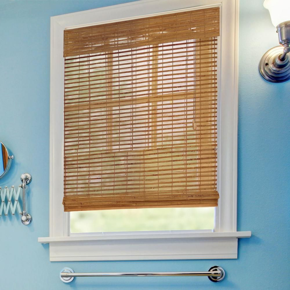 Home Decorators Collection Honey Bamboo Weave Roman Shade 23 In