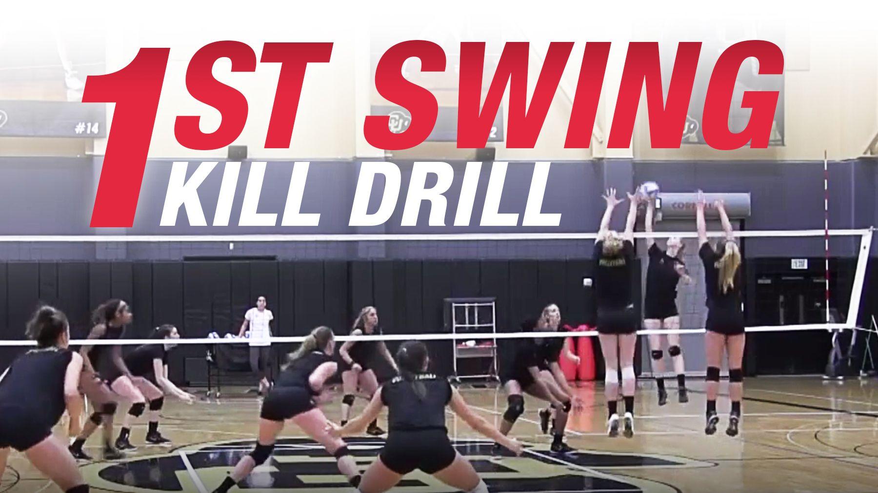 First Swing Kill Drill The Art Of Coaching Volleyball Coaching Volleyball Volleyball Drills Volleyball Training