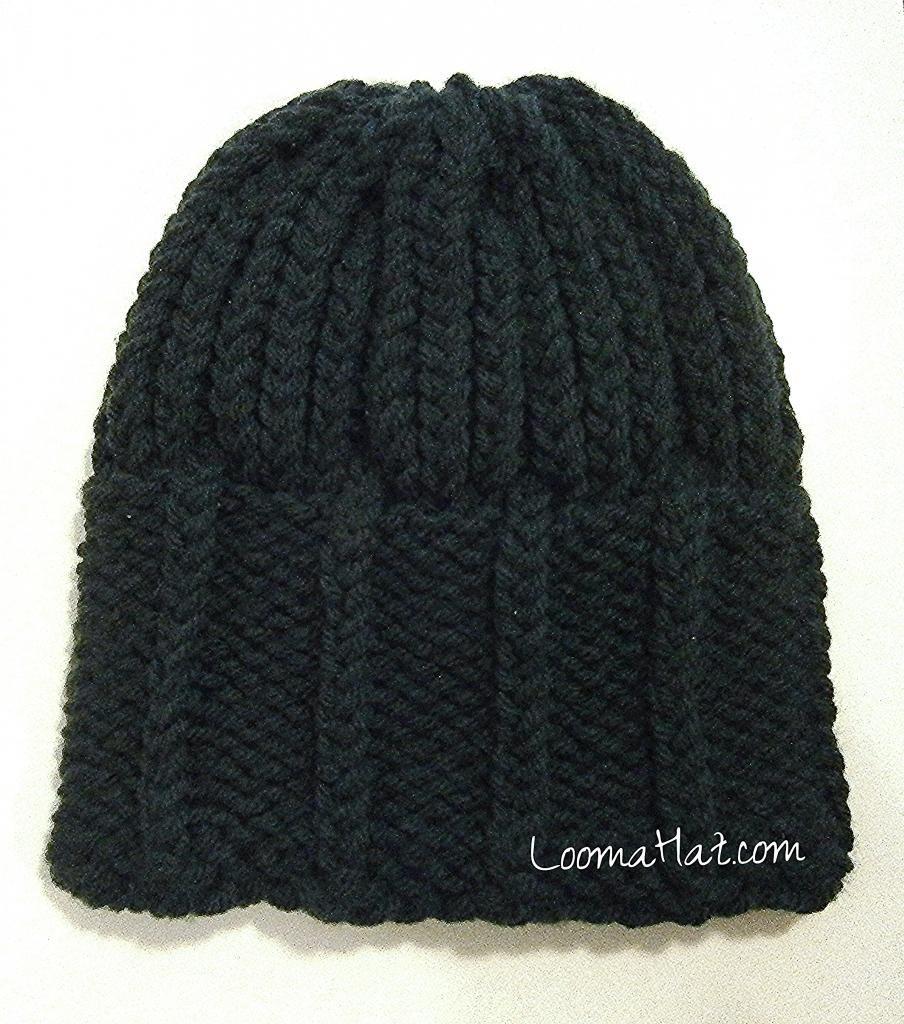Mens Knit Hat The Parthenon Free Pattern Loom A Hat Loom Knitting Patterns Hat Loom Knitting Patterns Loom Knit Hat