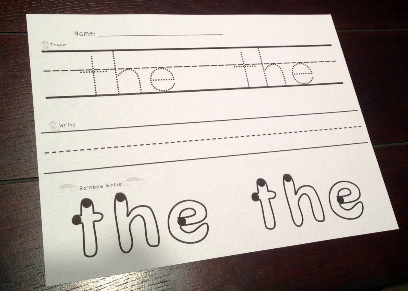 Sight Words Trace Write Rainbow Write With Images