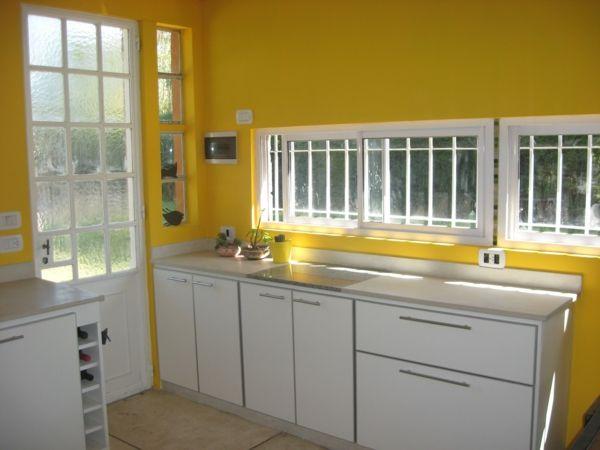 Inspirierende Gelbe Küchen Wandfarbe
