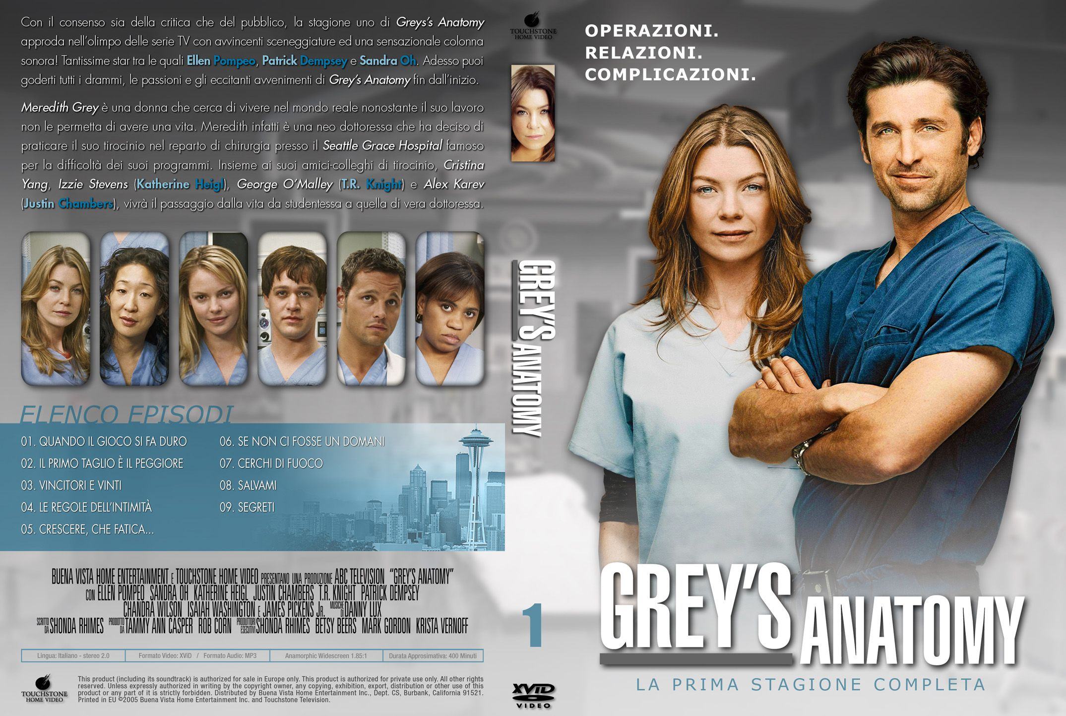 Front Dvd Covers Greys Anatomy Sceneups