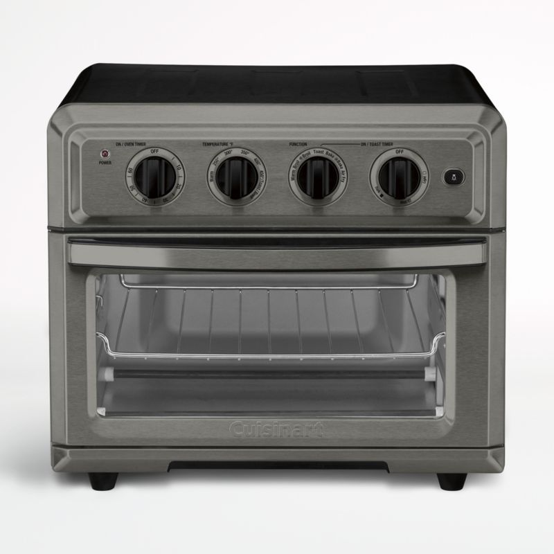 Cuisinart Black Stainless Airfryer Toaster Oven Crate And Barrel In 2020 Toaster Oven Air Fryer Recipes Healthy Oven