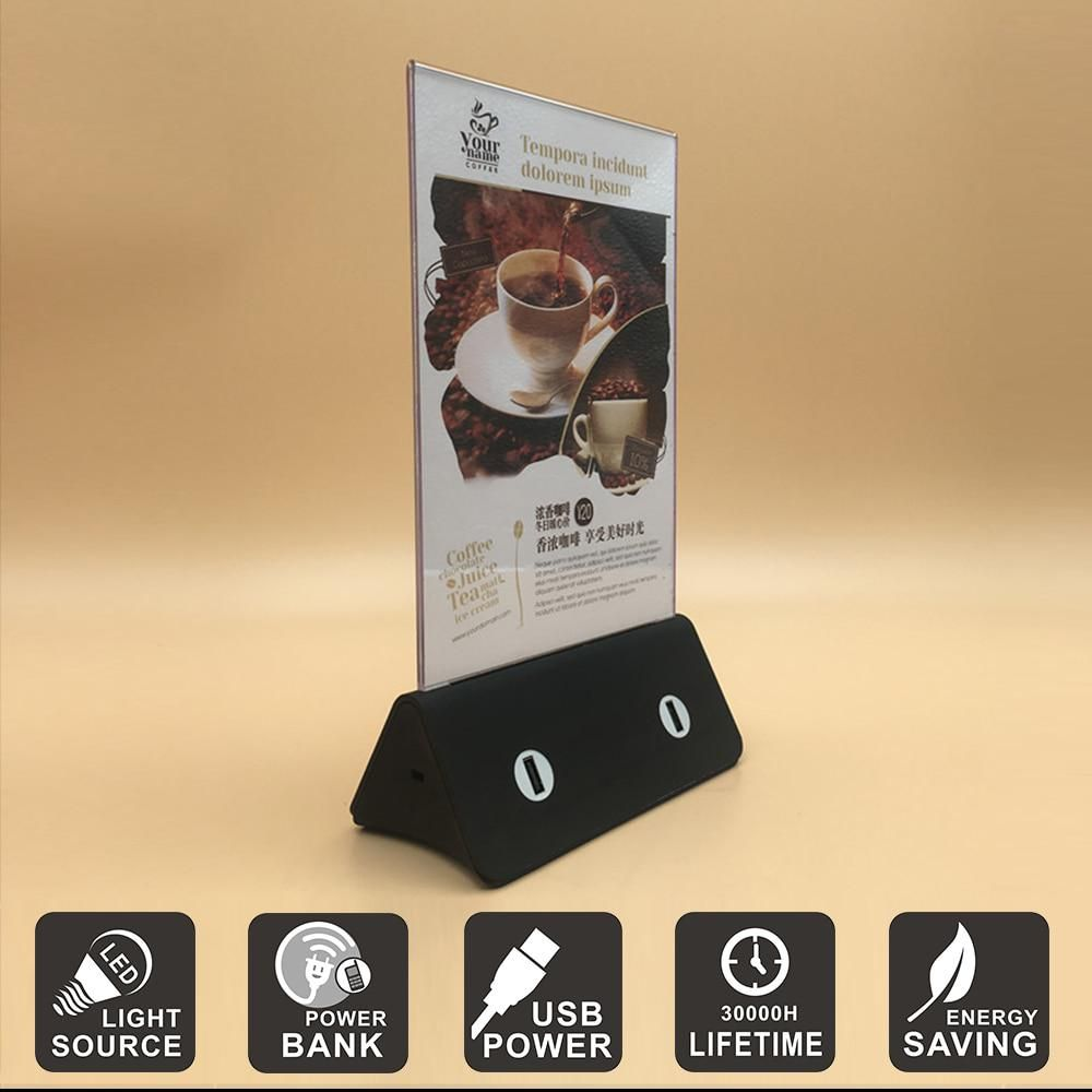 Led Night Light 3d Visual Creative Customiaed Menu Card Led