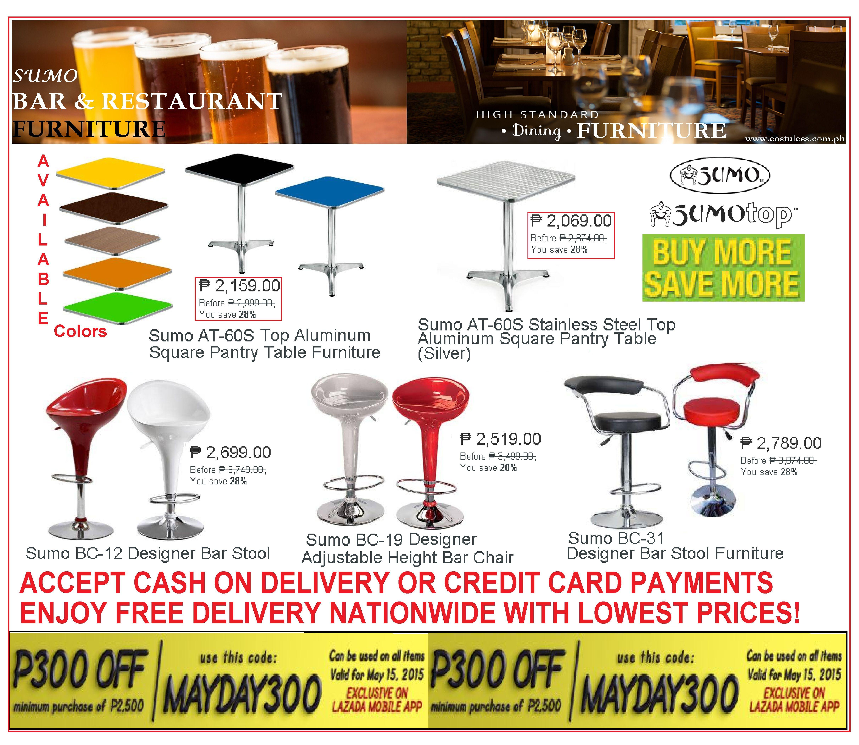 bar restaurant furniture sale lazada mayday promo p300 00 off
