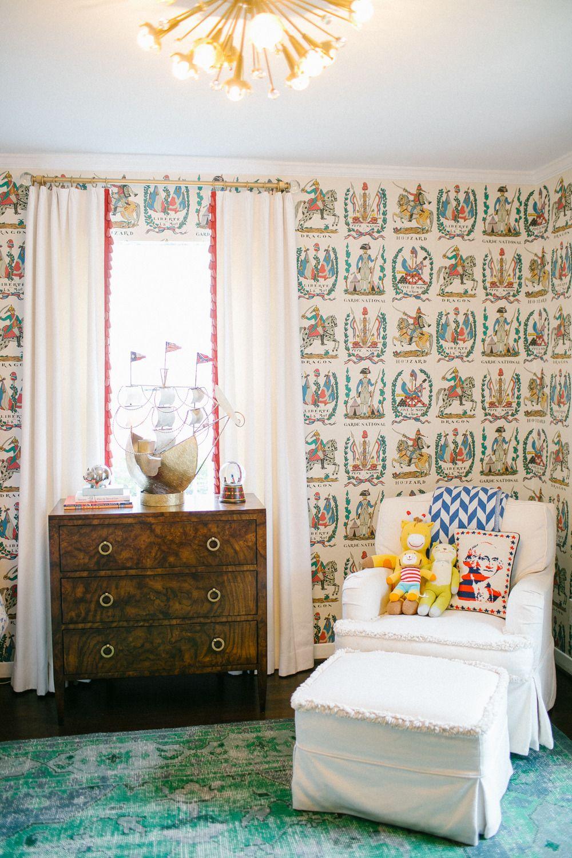Kids Room Wallpaper Designs: Peppermint Bliss Designed Home Tour
