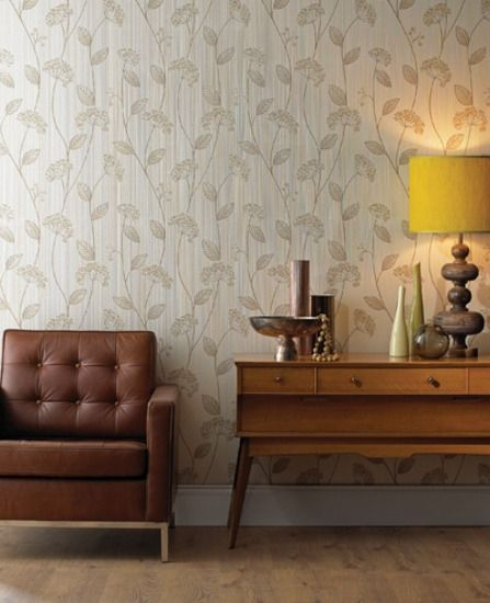 30-607 Premier Vinyl Claire: Beige wallpaper Beige,Mocha,Gold Trail,Floral Wallpaper
