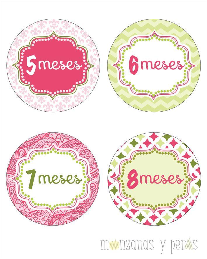 Para documentar cada mes de vida de tu bebe stickers for Stickers pared bebe