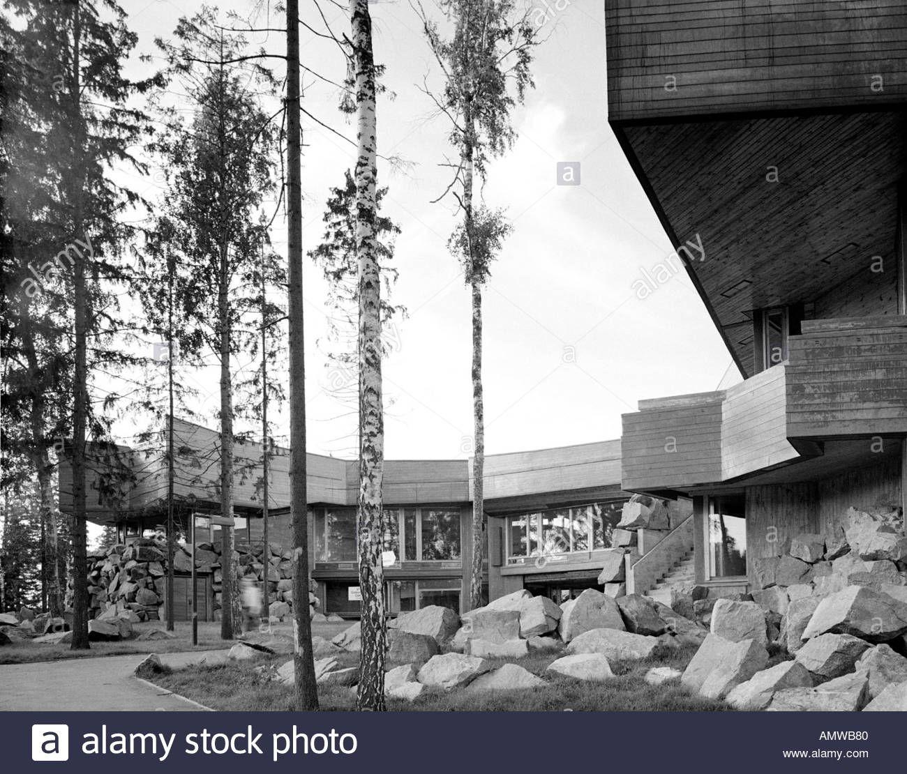 Dipoli Student Centre, Otaniemi, Helsinki, 1966. Exterior. Architect: Reima Pietilä and Raili ...