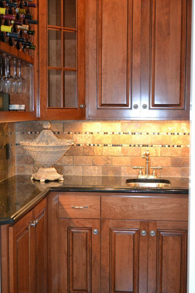 This kitchen with sex-appeal has blue ice granite island ...