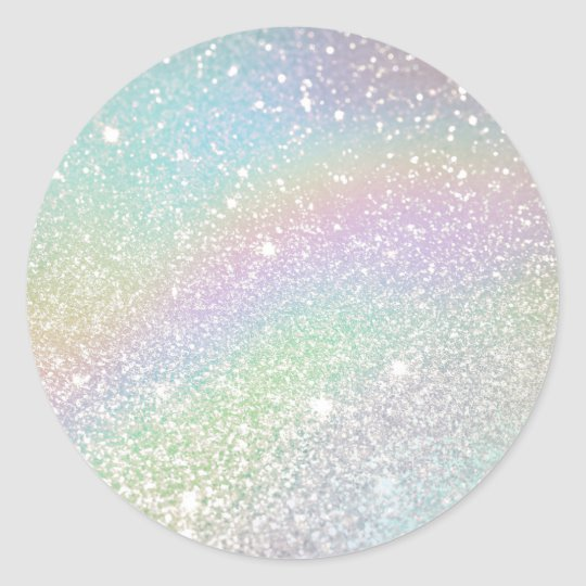 Holographic Glitter Bakery Sweets Classic Round Sticker Zazzle Com In 2020 Holographic Glitter Birthday Cake Topper Printable Round Stickers