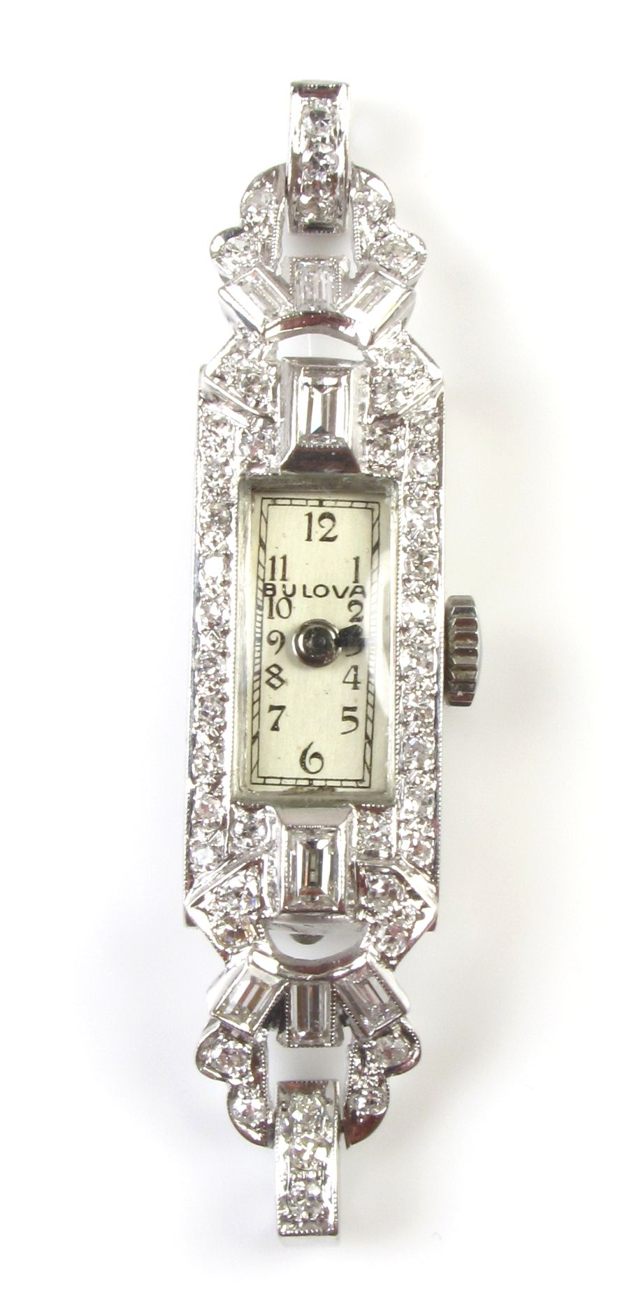 Stunning Platinum Diamond Antique Bucherer Ladies Watch Vintage Fine Jewelry Edwardian Jewelry Antique Watches