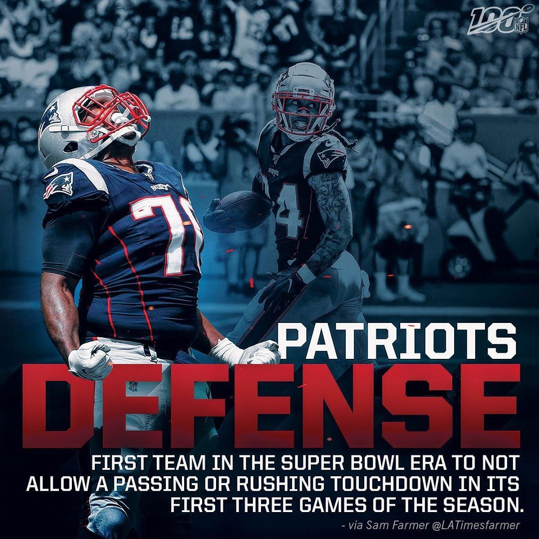 Nfl It S Been A Dominant Start For The Patriots Defense Patriots Defense Patriots One Team
